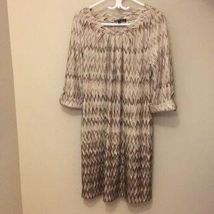 Brown Ombré Zig-Zag Dress